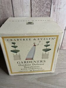 RARE 10 Crabtree & Evelyn Outdoor Defense Towelette with Citronella New/Older
