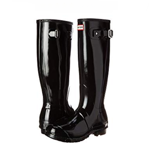 Hunter Original Tall Gloss botas para de agua para botas mujer, negro, talla 9 (UK 7) 1622b8