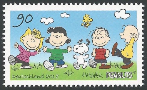 SALE NEW PEANUTS GANG STAMP Snoopy Woodstock Sally Charlie Brown Lucy Linus MINT