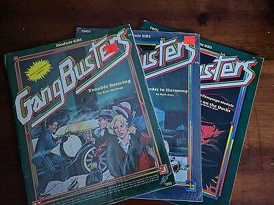 Lot (3) GANGBUSTERS modules Role Playing Game OST Module RPG