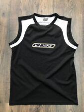 Da Uomo Nera della Nike Retro senza maniche girocollo T-shirt Canotta-Taglia Large