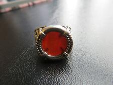 SILPADA - R0899 - Silver Ring with Carnelian Cabochon Stone, Size 8 - RARE!