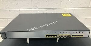 Cisco Catalyst 3750 WS-C3750G-12S-E  Switch 12 Gigabit Fiber Port w/ 4 SFP insta 675903588117