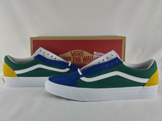 Vans Old Skool Yacht Club Blue Green Yellow Red VN0A38G1R1Q Off The Wall Low Cut