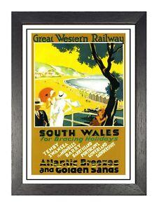 Du-Sud-Galles-2-Chemin-de-Fer-Vintage-Ancien-Image-Retro-Affiche-A3-A4-Neuf