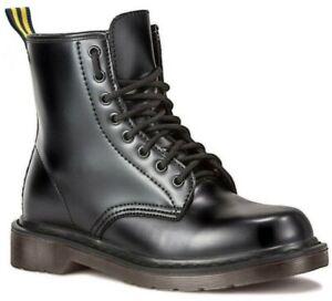 anfibi donna con lacci stivali scarpe scarponcini neri stivaletti alti militari