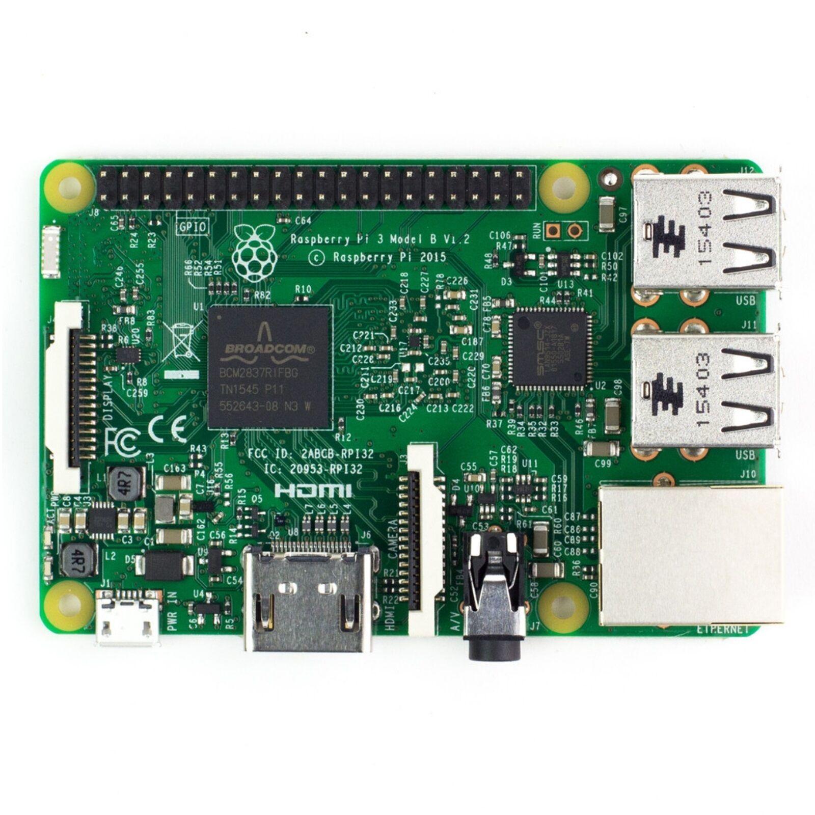 Raspberry Pi 3 Model B E14 Quad Core Bluetooth 4.1 WiFi 1.2GHz 64bit CPU 1GB RAM