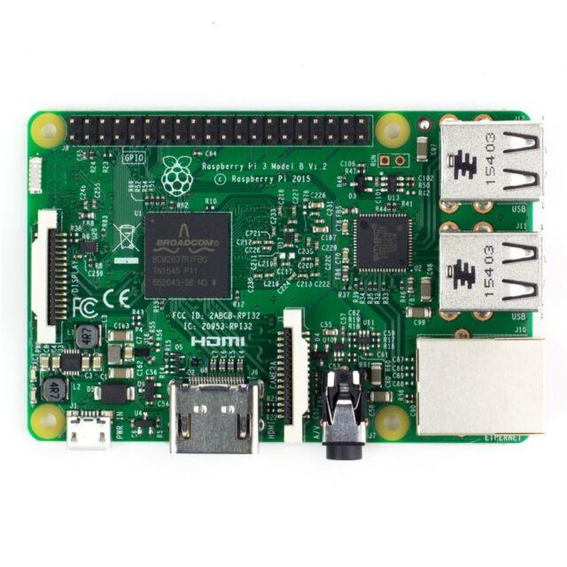 RaspberryPi 3 Model B Bluetooth4.1 CPU Quad Core WiFi 1.2GHz 64bit CPU 1GB RAM
