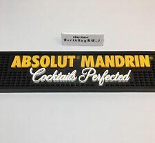 """ABSOLUTE Mandrin Vodka BAR MAT Rubber - Large 20.5'' x 3.5"""" Pub Spill Drink Well"""