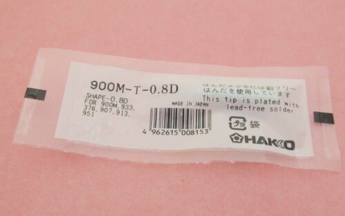 5x Replace Soldering Solder Leader-Free Solder Iron Tip F Hakko 936 900M-T-0.8D