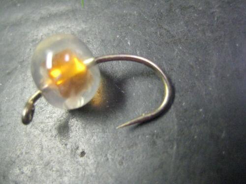 12 Silicone Egg Orange Glo Bugs # 6 Premium Fly Fishing Flies Brookside Glow bug
