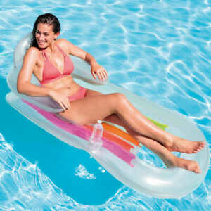 Intex Inflatable Lounge 160x85cm Pool Accessory Seating Seat Sitting Lounger