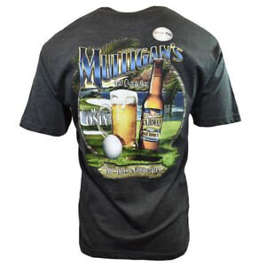 0701a2e30 MULLIGANS Mens Tee T Shirt Beer Golf Funny Graphic Beach USA ...