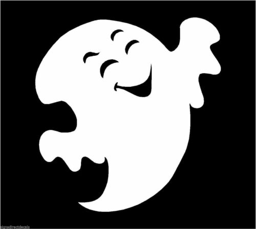 Ghost Spook Spectre Phantom Sticker Decal Graphic Vinyl Label White V5