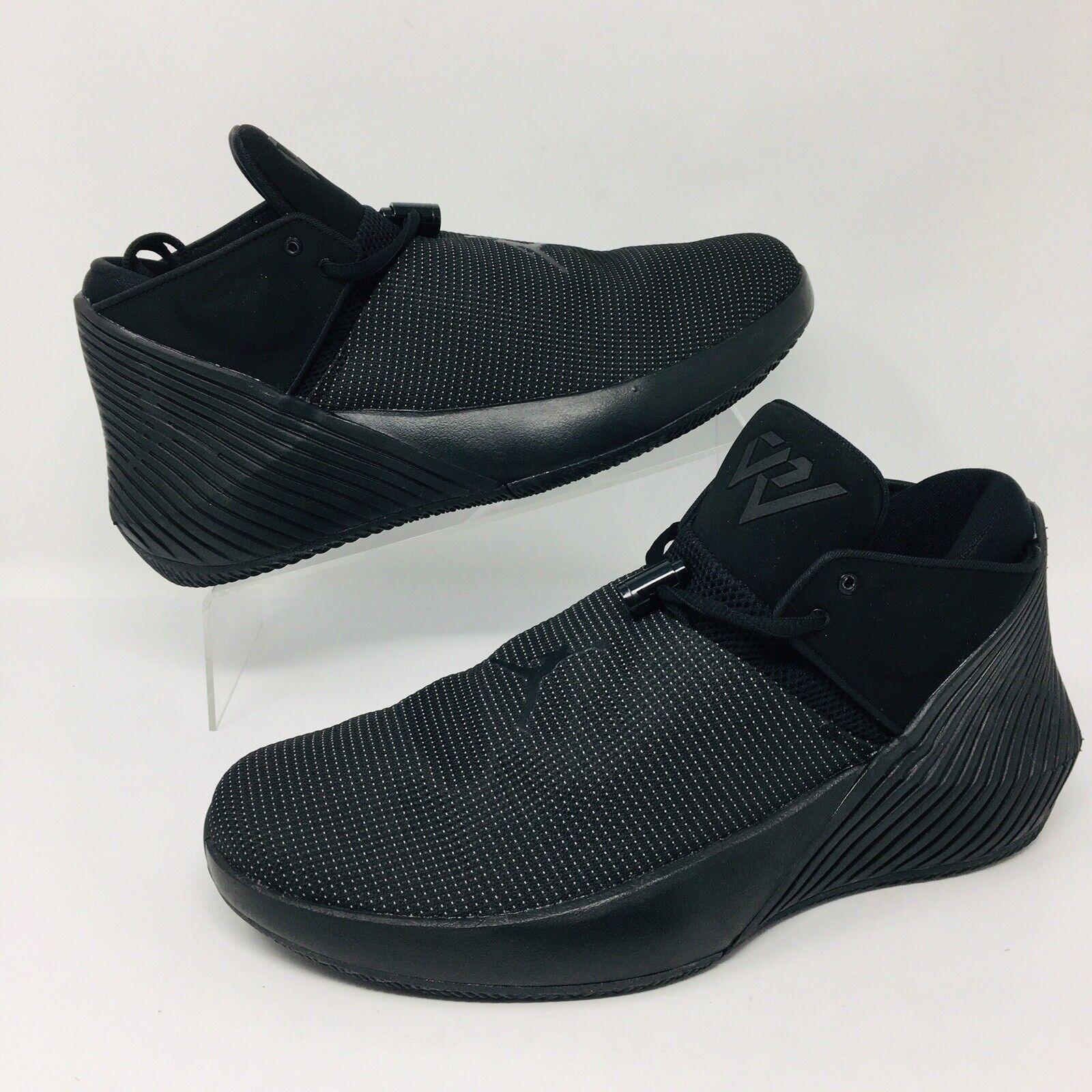 NEW Nike Air Jordan Why Not Zero.1 (Men Size 9.5) Basketball shoes Triple Black