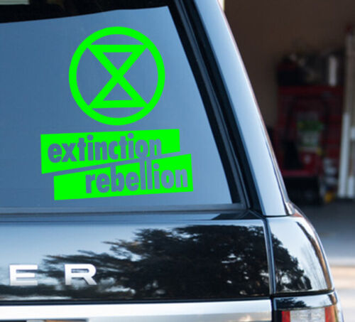 Extinction Rebellion Decal Sticker Protester Proud fight Climate change Green