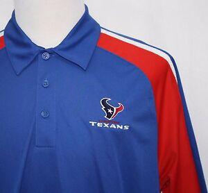 Men's Clothing Sports Mem, Cards & Fan Shop Houston Texans 3 Button Polo Large Nfl Logo Athletic Ture 100% Guarantee