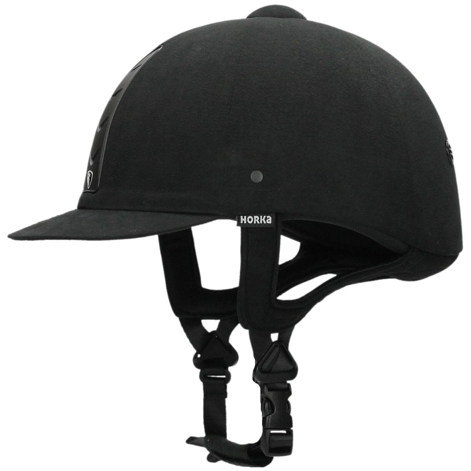 HORKA HAWK Reitkappe, Sicherheitsreithelm, black Gr. 56
