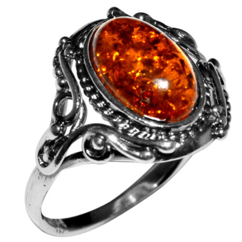 2.95 g Authentic BALTIC AMBER 925 Sterling Silver Ring Jewelry N-A7217