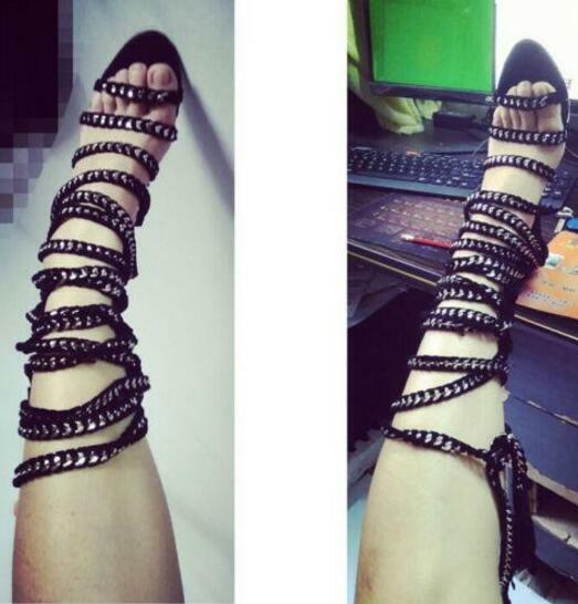 mujer Hollow out High-Heels Strapy Sandals Gladiator Sandals Strapy Roman rope zapatos Ths01 aba01d