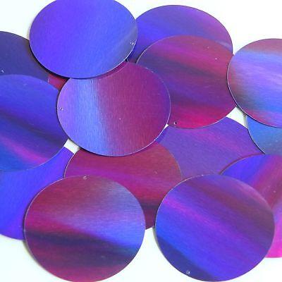 Round Sequin 50mm Deep Purple Lazersheen Reflective Metallic Loose Couture Paillettes