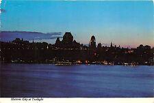 BR30035 Quebec l historique Quebec vu de Levis le soir Canada