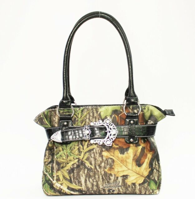 Camo Mossy Oak Camouflage Purse Black Trim Handbag