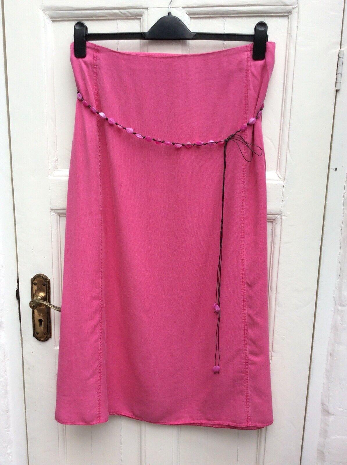 BNWT Ann Harvey Pink Tencel Summer Long Skirt Size 75