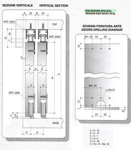 Accessori Per Ante Scorrevoli Armadio.Binari Ed Accessori Per 2 Ante Armadio Scorrevoli Cm 200 Max 50 Kg Da Avvitare Ebay
