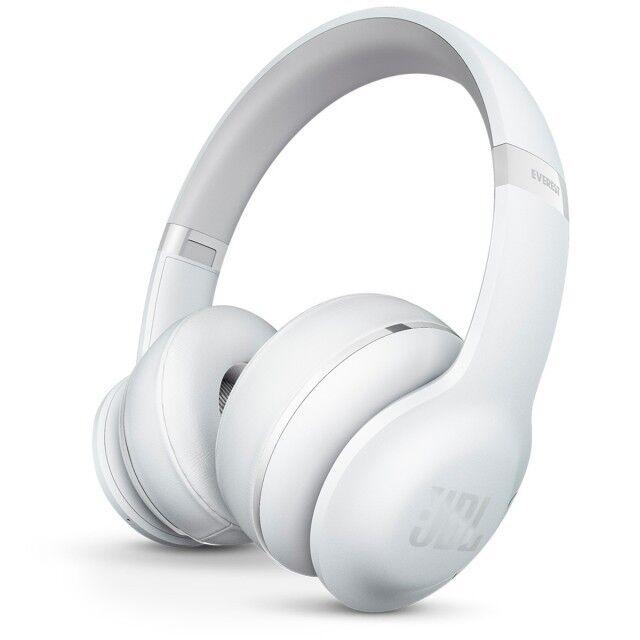 JBL Everest 300 White V300BT Bluetooth Pro Audio Sound Built-in Mic Headphones