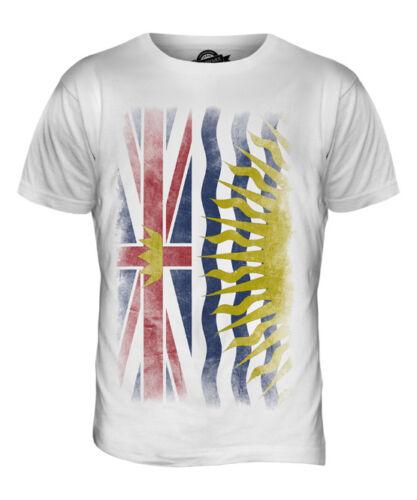 Colombie-britannique délavé drapeau t-shirt homme tee top british columbian b.c shirt