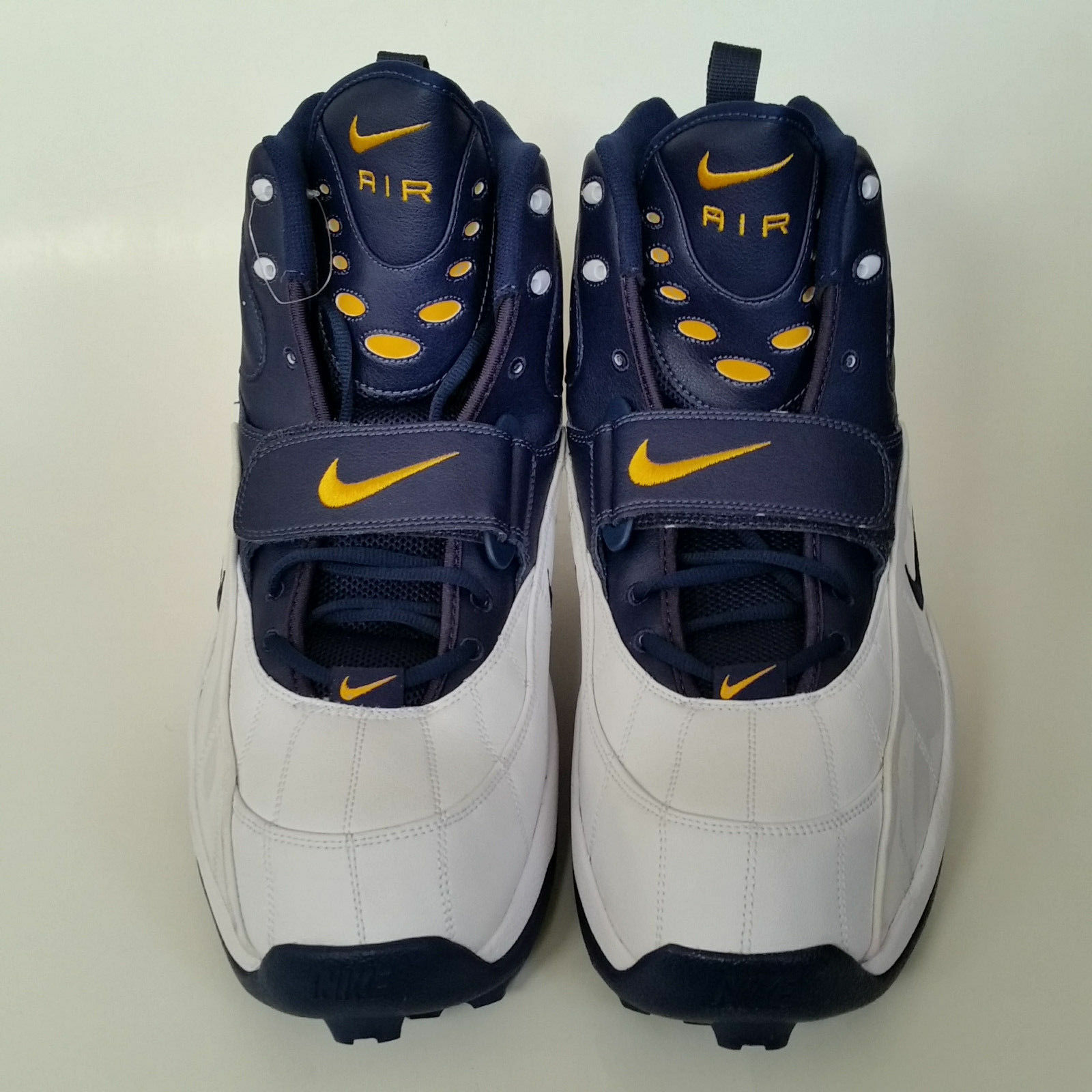 Nike Air Zoom Pro Cleats Shark 3/4 Lineman Football Cleats Pro Size 18  Michigan Wolverines 03538a