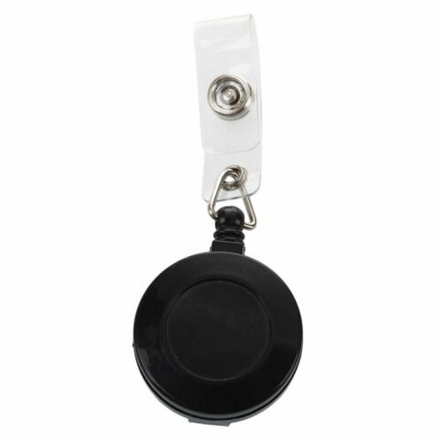 Placa soporte retráctil carrete 1 piezas Clip De Yoyo botón a presión clave de tarjeta de identificación Negro R el