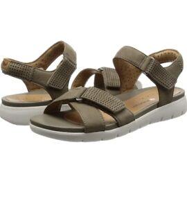 Details about Clarks Ladies Sandals Un Saffron Sage Nubuck Uk 4 D