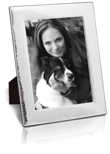 """Photograph Frame Solid Silver Photo Frame Hammered Finish By Carr/'s 7 x 5/"""""""