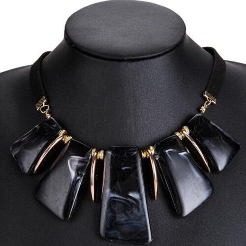 Women Statement Board Necklace Collar Choker Chunky Chain Pendant Charm Jewelry