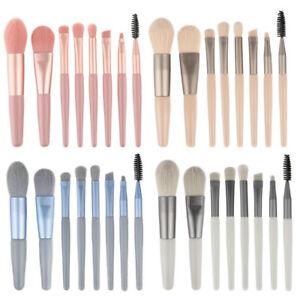 8pcs/Set Makeup Mini Brushes Powder Foundation Eyeshadow Eyeliner Lip Brush Tool