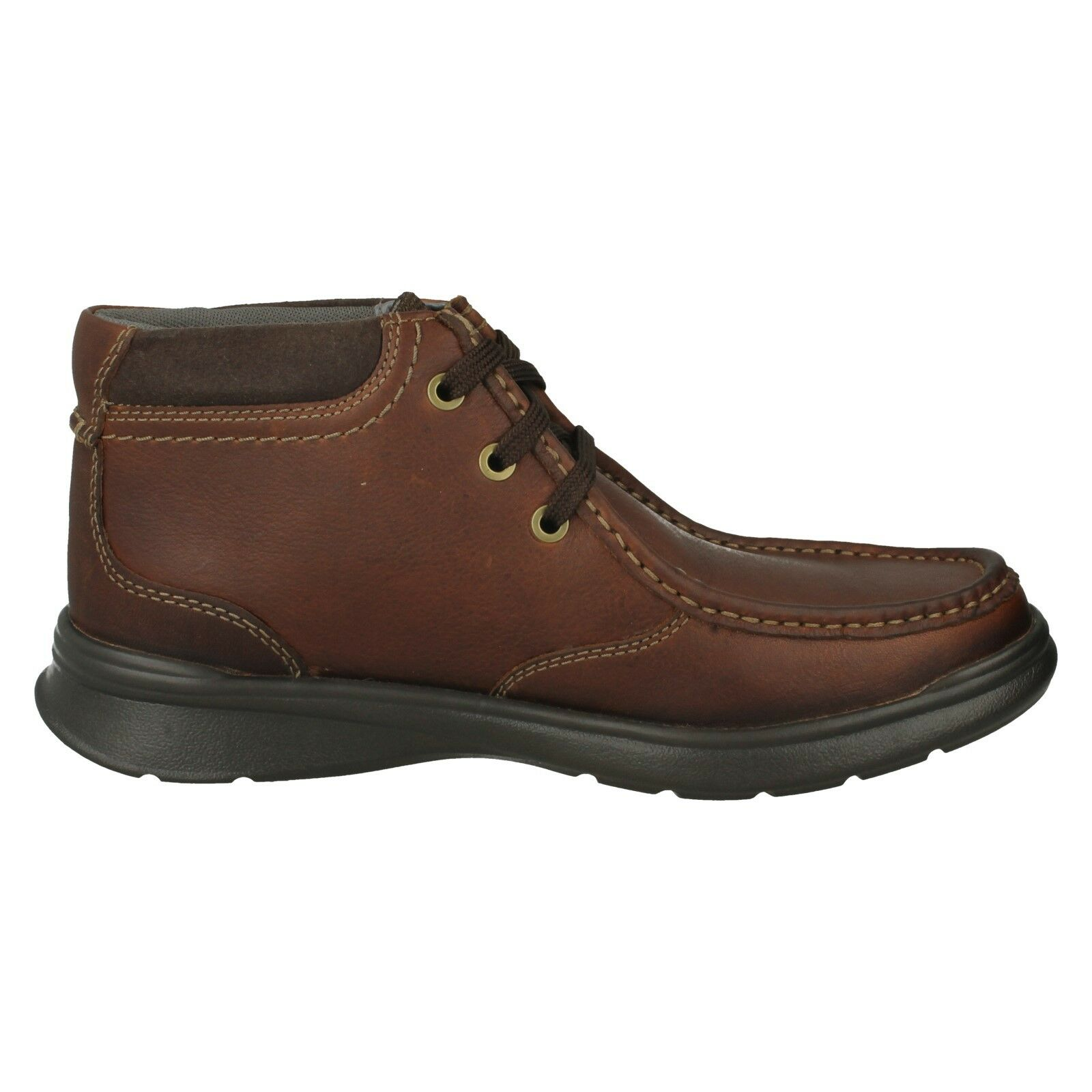 Herren CLARKS LEATHER LACE LACE LACE UP CASUAL ANKLE Stiefel COTRELL TOP SIZES 133c30