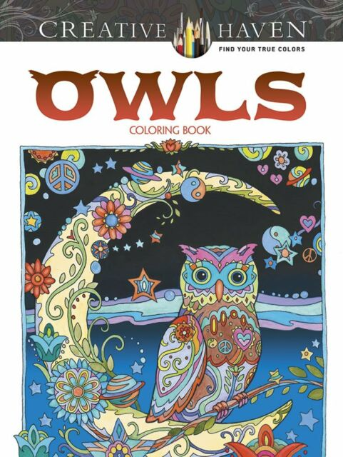 Creative Haven Owls Coloring Book Books