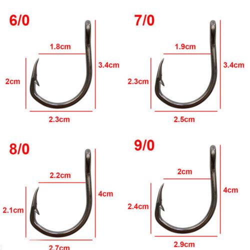 Live Bait Fishing Hooks 10827 Stainless Steel Saltwater Hooks 2//0-10//0
