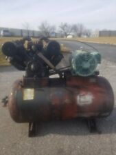 Used 30 Hp Saylor Beall Piston Compressor Mounted On 240 Gallon Tank