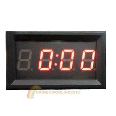 4 Digit 0.4inch LED Digital Electronic Clock for Car Motorcycle Motor Red Blue