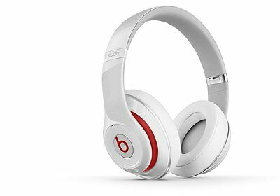 New Beats By Dre Studio 2.0 Over-Ear Wired Noise Cancelling Headphones White
