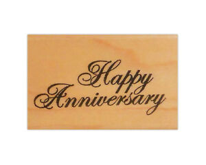 Happy Anniversary script Rubber Stamp from Stampin Up