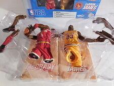 NBA Basketball LeBron James Tracy McGrady Hardwood Classic Action Figures NIB !!