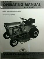 Yard- Man 3400 Lawn Tractor, Snow Blower & Blade Owner & Parts Manual (3 Books)