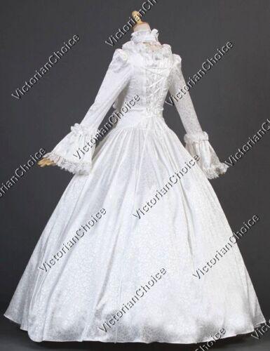 Renaissance Georgian Vintage Wedding Dress Ghost Bride Halloween Costume 119