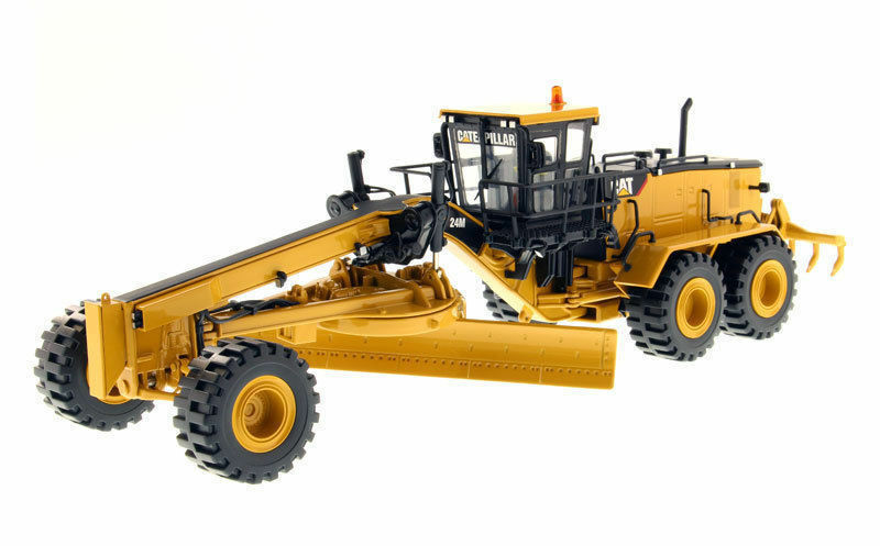 1 50 Caterpillar 24M Motor Grader 85264C Yellow Vehicle Car Model Toy Collection