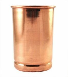 100-Copper-Drinking-Glass-Cup-Tumbler-Mug-300-ml-Ayurveda-Health-yoga-Free-Ship