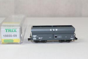 n3198, Minitrix 15655-09 Selbstentladewagen SGW der SNCF mint BOX Spur N NEM KKK